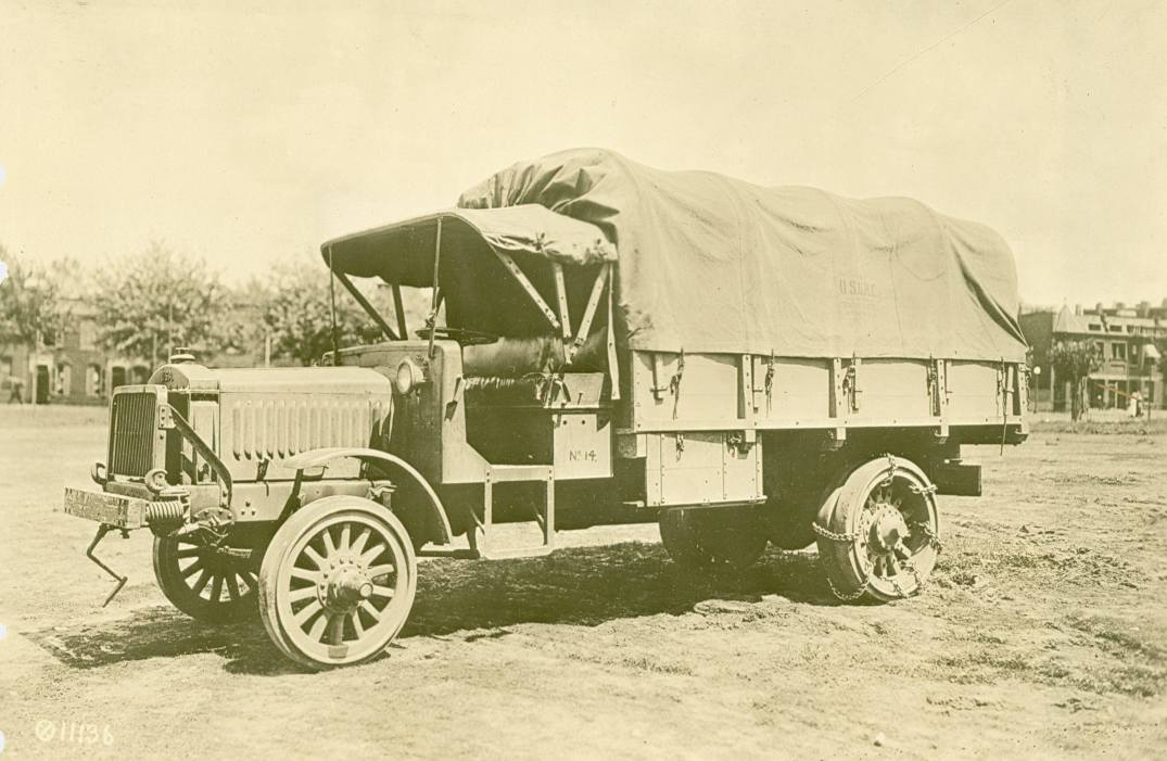 3-ton Standard Truck showing skid chains