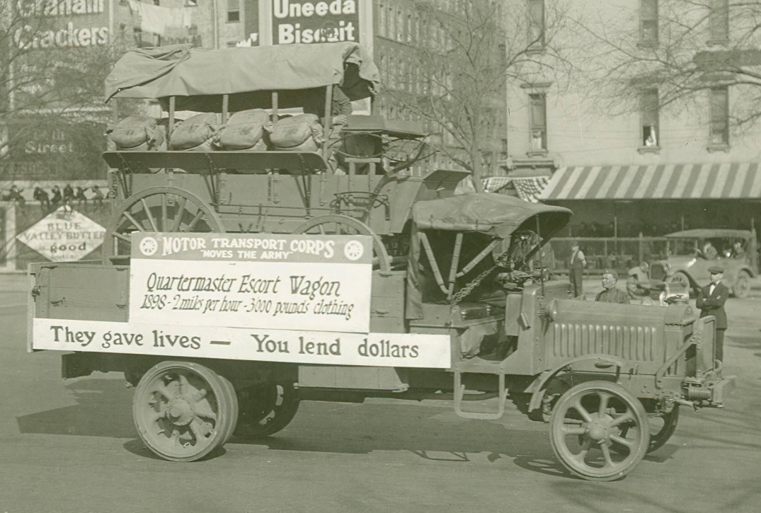 Liberty carrying Escort Wagon, War Bond Drive