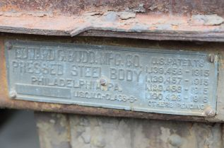 LeMay Collection E.G.Budd Steel Body Plate on 2nd Series Truck.