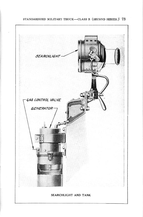 Searchlight and Acetylene Generator Tank