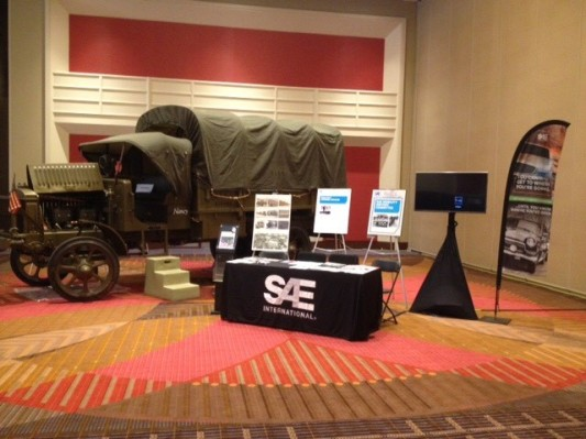 Our set up as part of the SAE's 'Mobility History Committee' who sponsored our movement to and from the convention