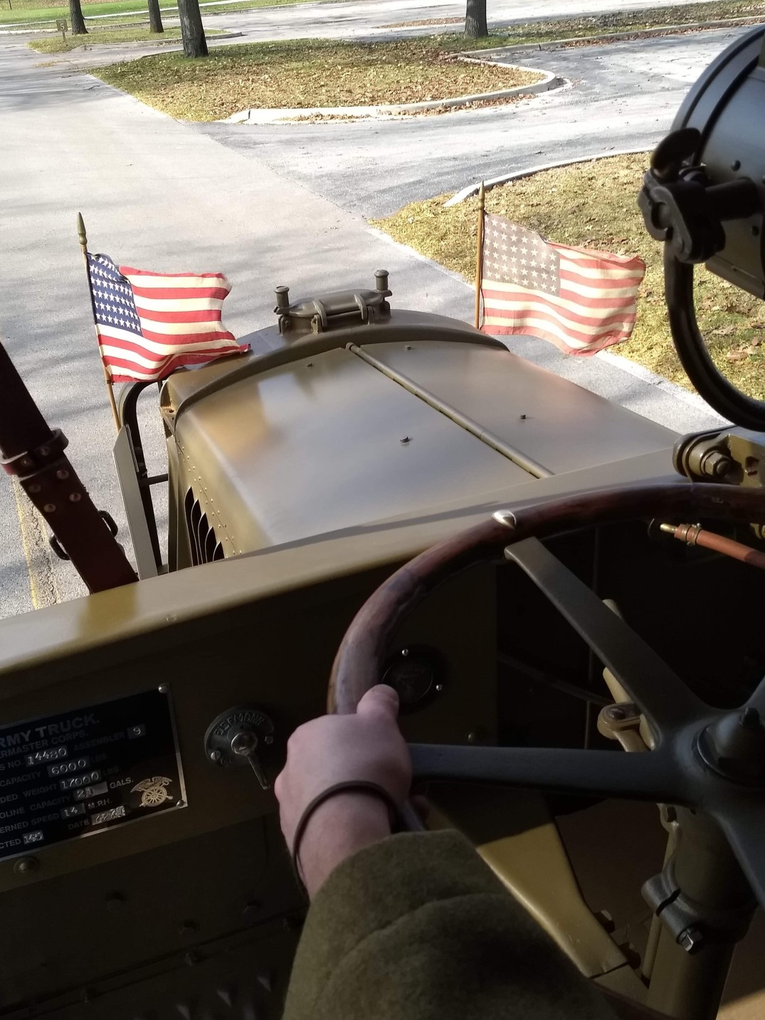 Driving the truck