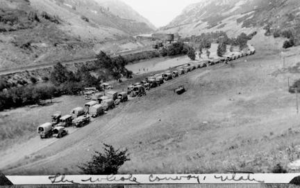 The entire convoy somewhere around Utah