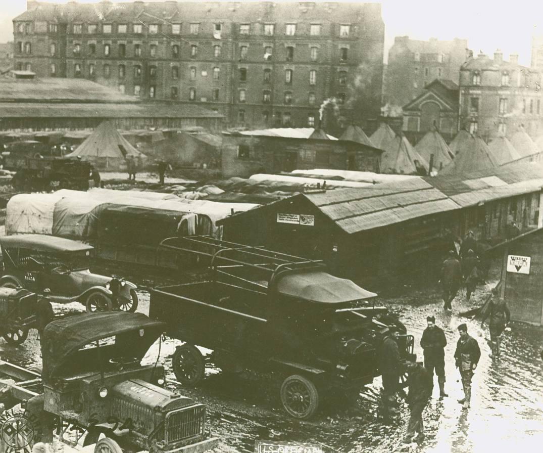 Le Hauvre Motor Reception depot, 1918